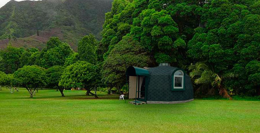 Купольный дом в лесу